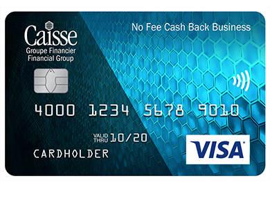 Visa* No Fee Cash Back Business Card