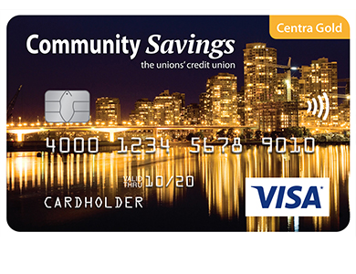 Visa* Centra Gold Card